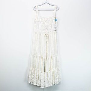 Sundress White Maxi Flowy Beach Dress